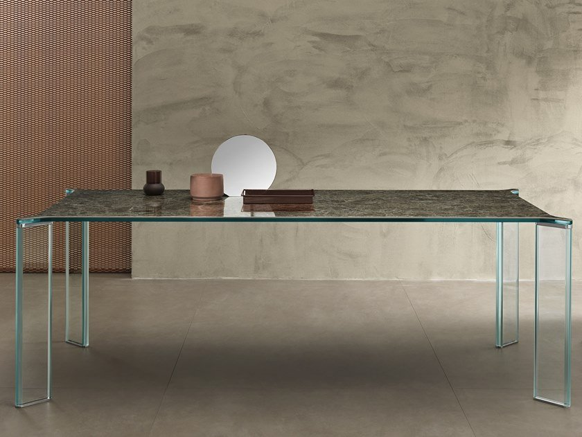 Rectangular ceramic dining table CAN CAN | Dining table by Tonelli Design