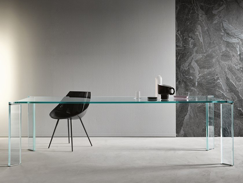 Crystal dining table CAN CAN | Glass table by Tonelli Design