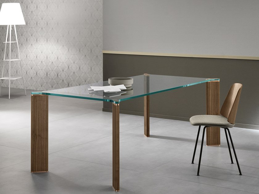 Rectangular glass dining table CAN CAN | Rectangular table by Tonelli Design