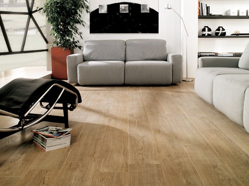 Indoor/outdoor porcelain stoneware flooring with wood effect CANADA by Venis