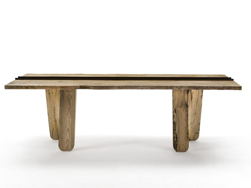 Rectangular solid wood table CANAL | Briccola wood table by Riva 1920