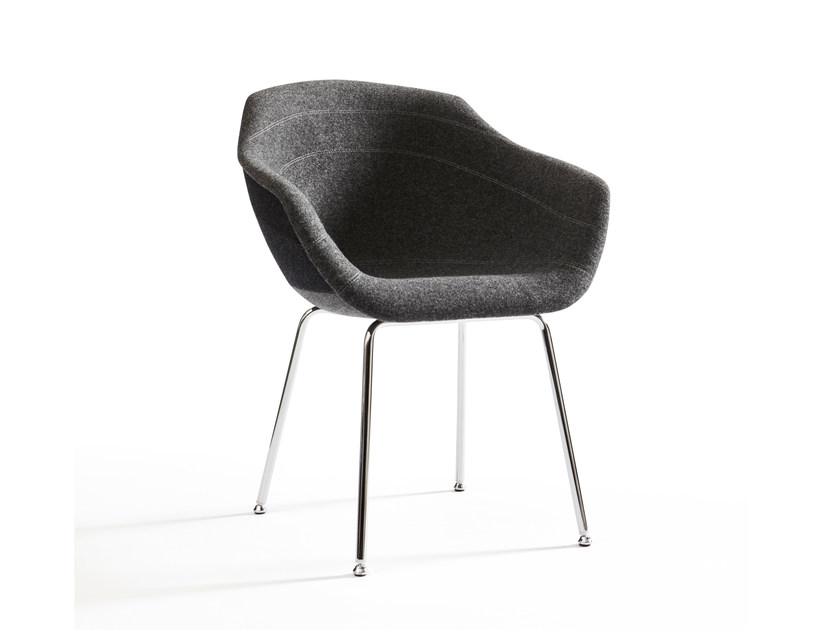Upholstered fabric chair CANAL | Fabric chair by moooi