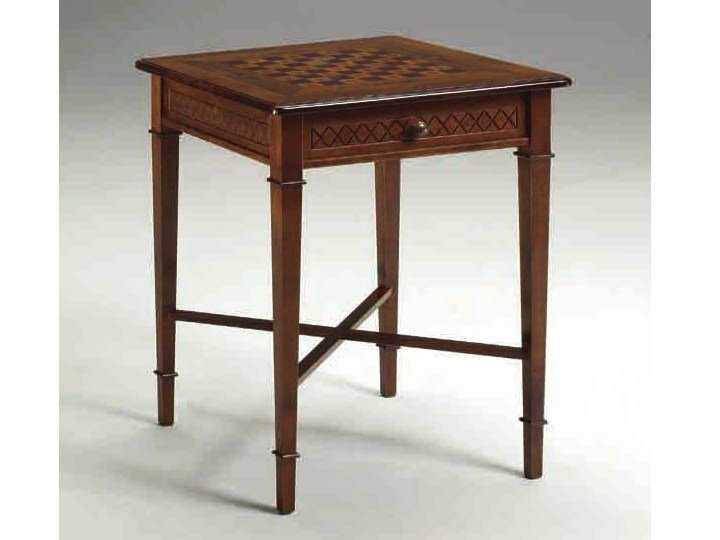Square solid wood chess table CANALETTO   Chess table by Arvestyle