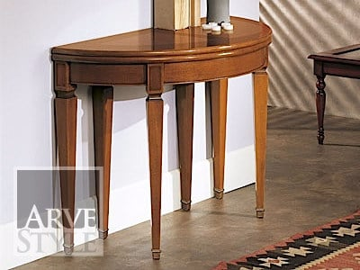 Demilune extending solid wood console table CANALETTO | Demilune console table by Arvestyle