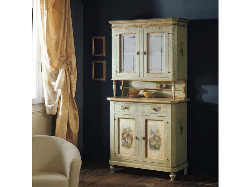 Solid wood highboard with doors CANALETTO | Highboard by Arvestyle