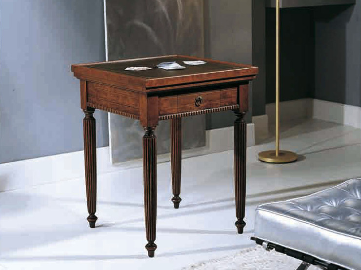 Square solid wood poker table CANALETTO | Poker table by Arvestyle
