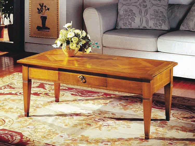 Rectangular cherry wood coffee table CANALETTO | Rectangular coffee table by Arvestyle
