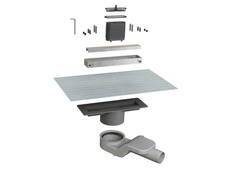 Scarico per doccia in alluminio CANALISSIMA 6825HL20S by Bonomini