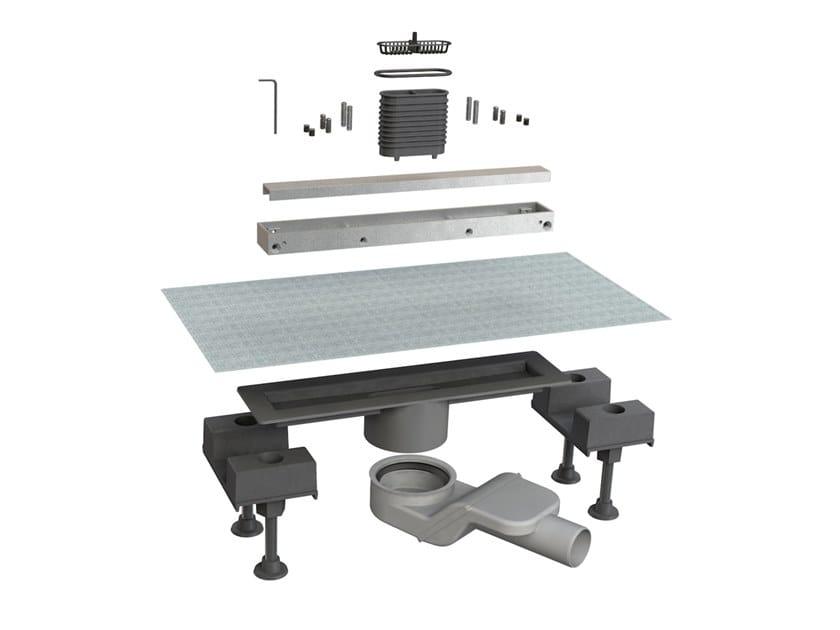 Scarico per doccia in alluminio CANALISSIMA 6825HL30S by Bonomini