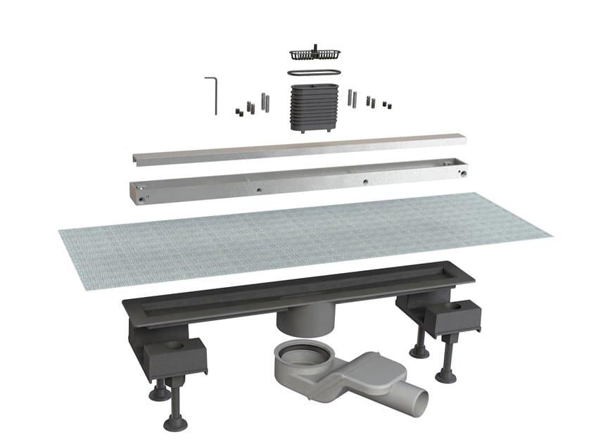 Scarico per doccia in alluminio CANALISSIMA 6825HL50S by Bonomini