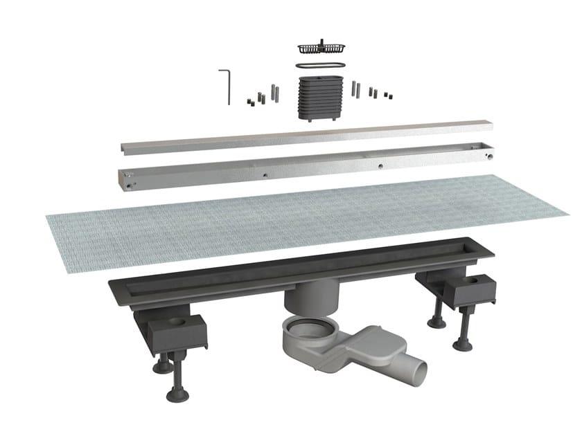 Scarico per doccia in alluminio CANALISSIMA 6825HL60S by Bonomini