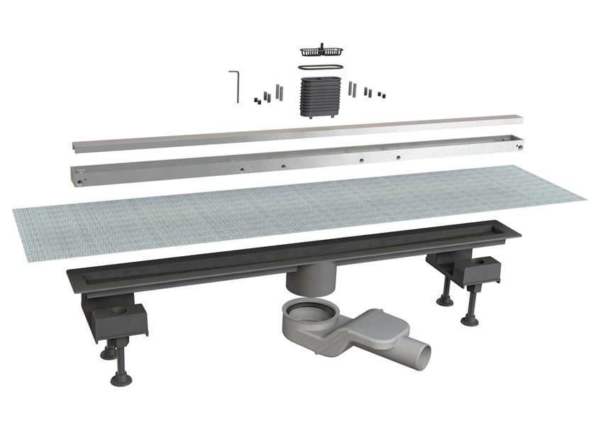 Scarico per doccia in alluminio CANALISSIMA 6825HL80S by Bonomini
