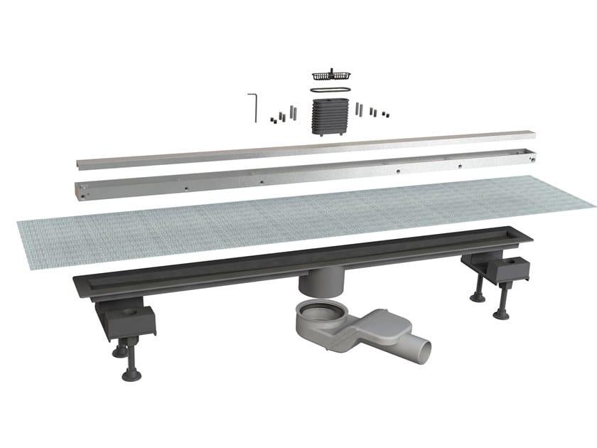 Scarico per doccia in alluminio CANALISSIMA 6825HL90S by Bonomini
