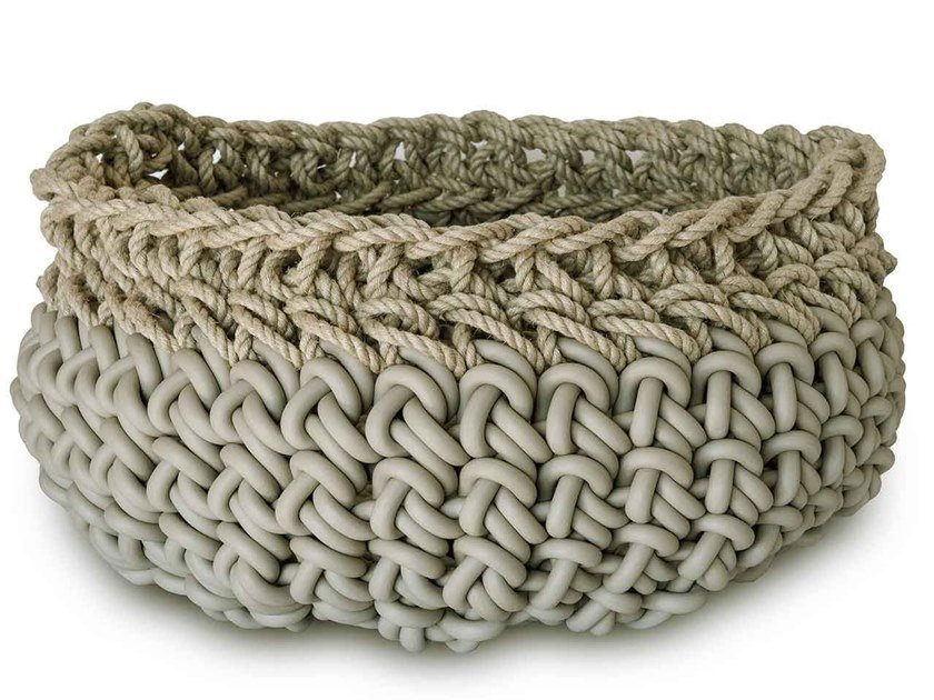 Hemp and neoprene basket CANAPA HC11 by Neò