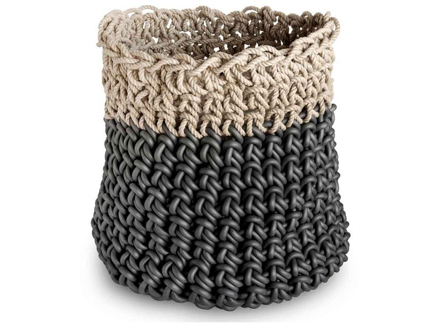 Hemp and neoprene basket CANAPA HC25 by Neò