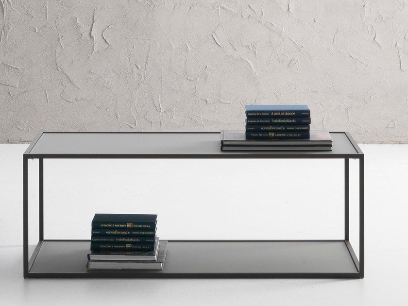 Rectangular tempered glass coffee table CANDEM | Rectangular coffee table by IDEAS Group