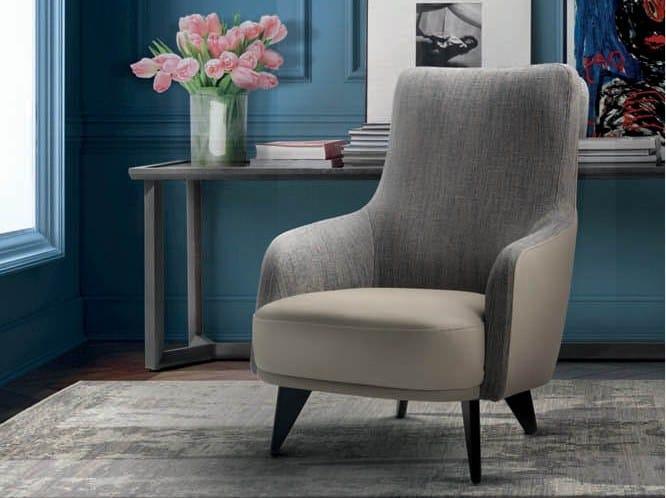 Fabric armchair with armrests CANDY | Armchair by Marac