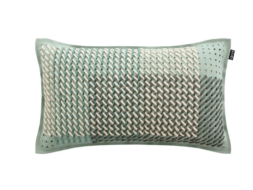 CANEVAS GEO GREEN   Rectangular cushion