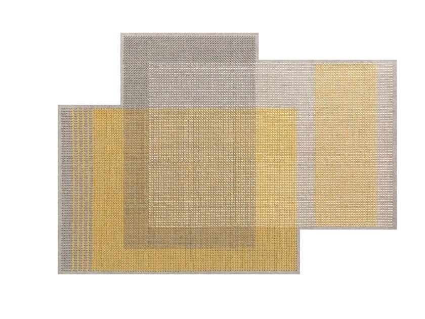 Wool rug CANEVAS GEO GREY | Rug by GAN