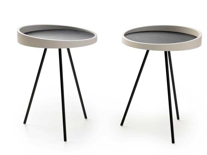 Tavolino rotondo CANNA | Tavolino di servizio by LEOLUX