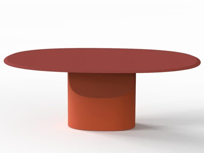 Tavolo ovale in Cimento® CANNAREGIO | Tavolo ovale by Cimento