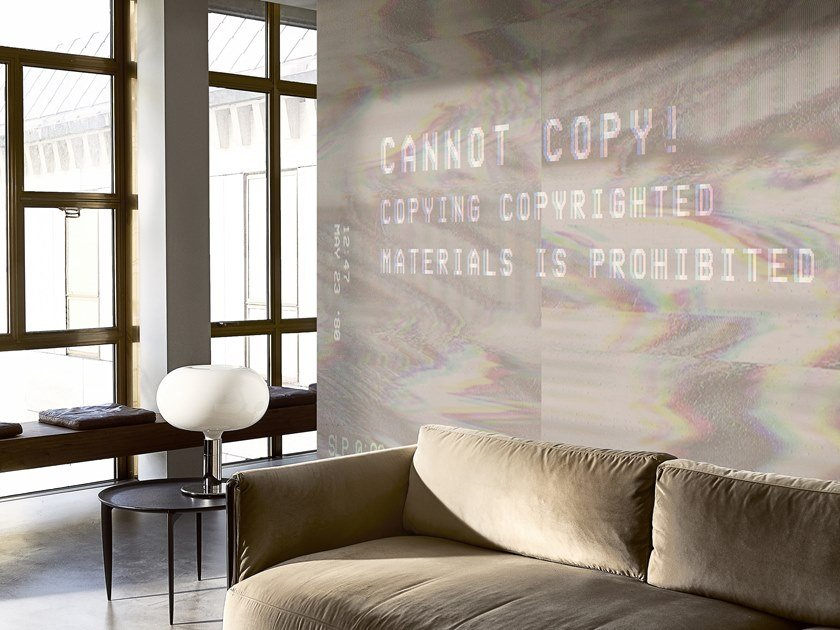 Writing wallpaper CANNOT COPY by Wall&decò