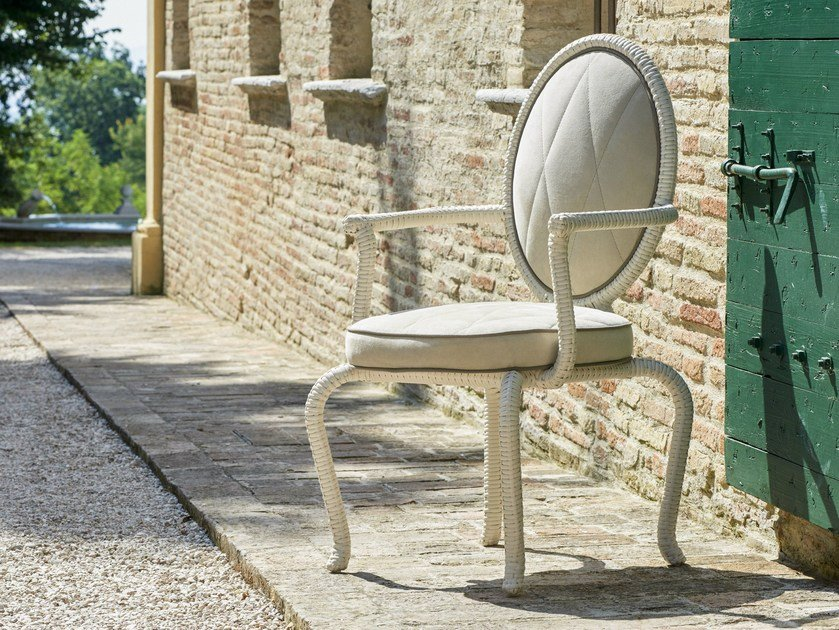 Medallion garden chair with armrests CANOPO BRIDGE | Garden chair by Samuele Mazza by DFN