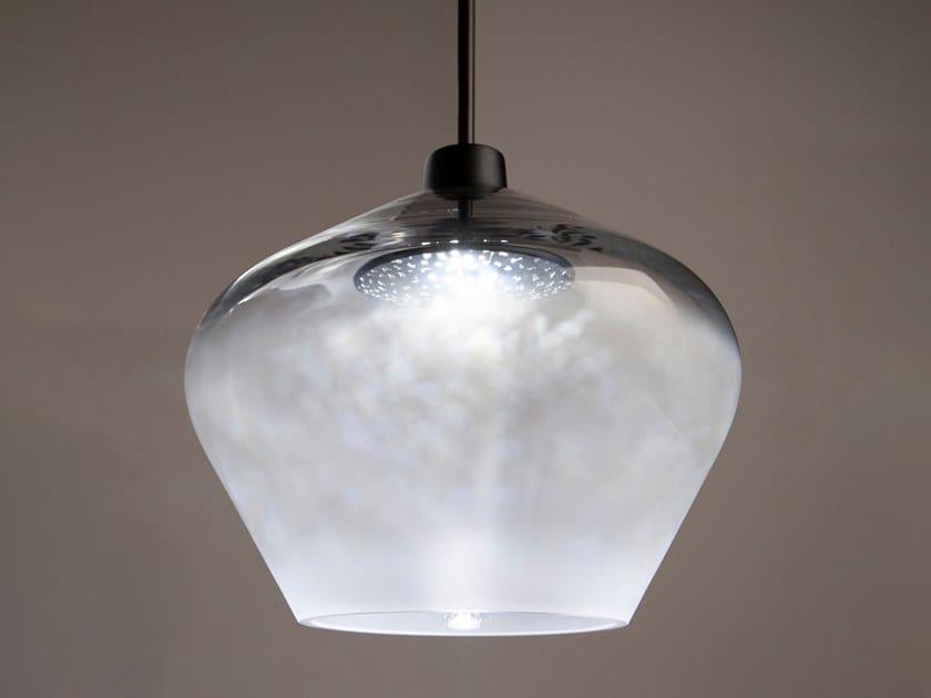 LED blown glass pendant lamp CANOPY 300 by Haberdashery