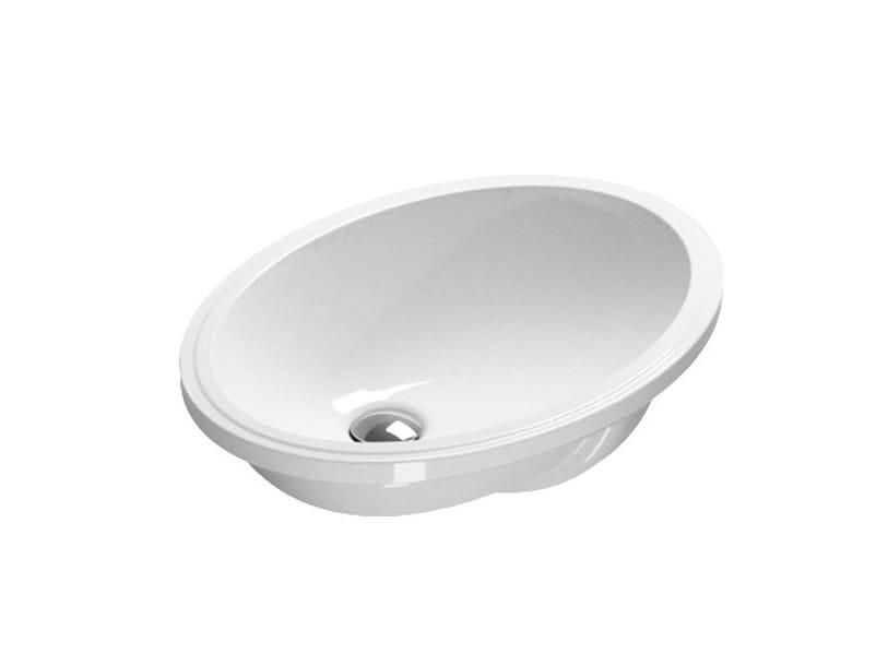 Undermount oval washbasin CANOVA ROYAL | Oval washbasin by CERAMICA CATALANO