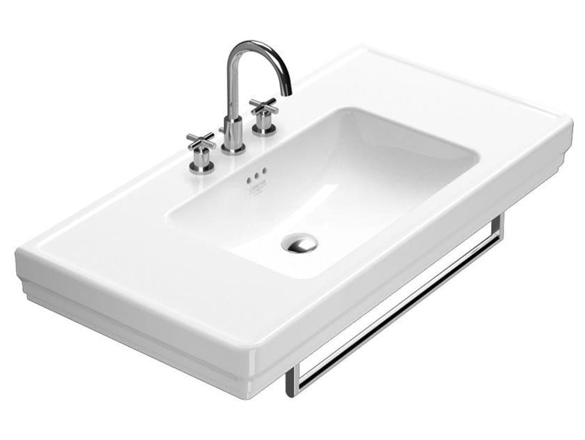 Rectangular washbasin with towel rail CANOVA ROYAL | Washbasin with towel rail by CERAMICA CATALANO