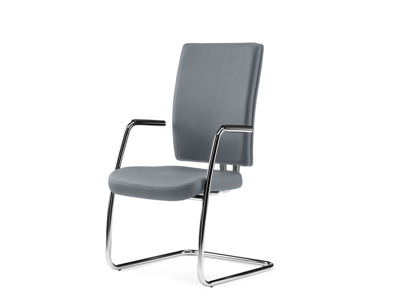 Cantilever reception chair with armrests PROGRESS | Cantilever chair by Arte & D