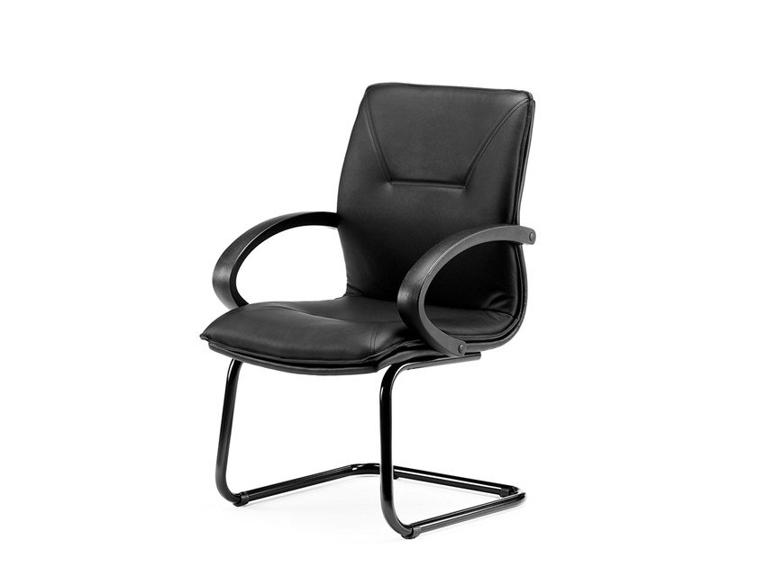 Cantilever reception chair with armrests SADIA | Cantilever chair by Arte & D