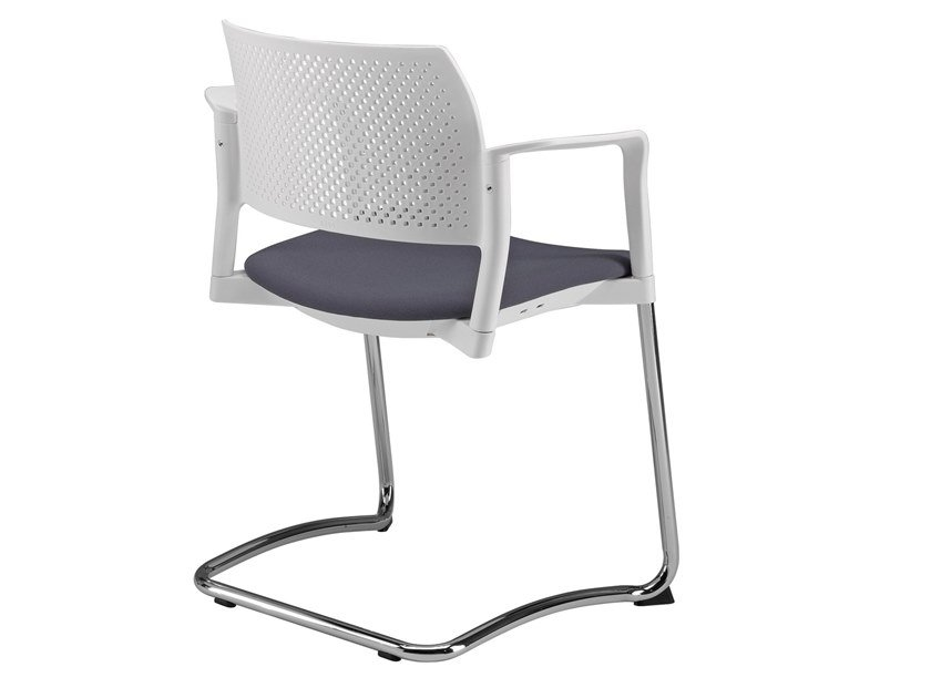 Cantilever open back chair with integrated cushion KYOS | Cantilever chair by Kastel