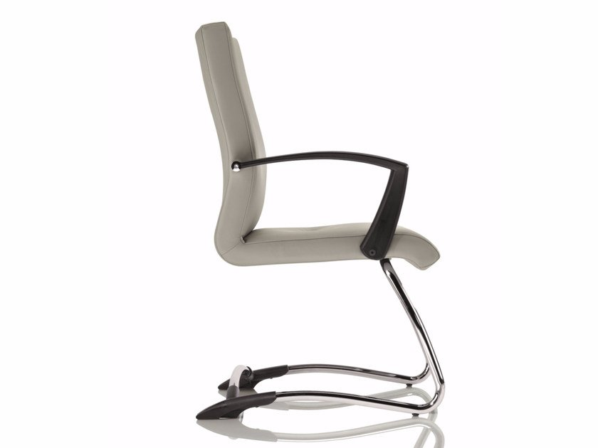 Cantilever upholstered chair with armrests YOUSTER | Cantilever chair by Luxy