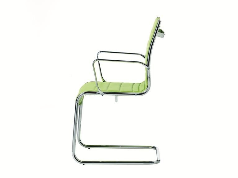 Cantilever chair with armrests DEKORA SOFT | Cantilever chair by Quadrifoglio