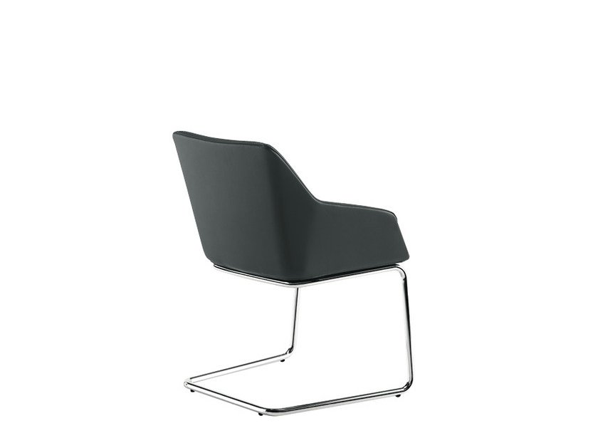 Cantilever reception chair DAMA STRIP | Cantilever chair by Sesta