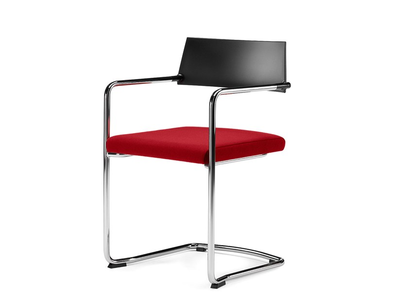 Cantilever stackable training chair with armrests SLIM | Cantilever training chair by Arte & D