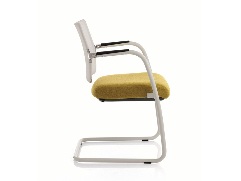 Cantilever stackable training chair with armrests FREE | Cantilever training chair by Emmegi