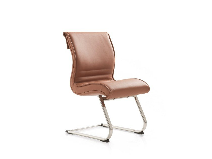 Cantilever leather training chair PULCHRA | Cantilever training chair by Emmegi