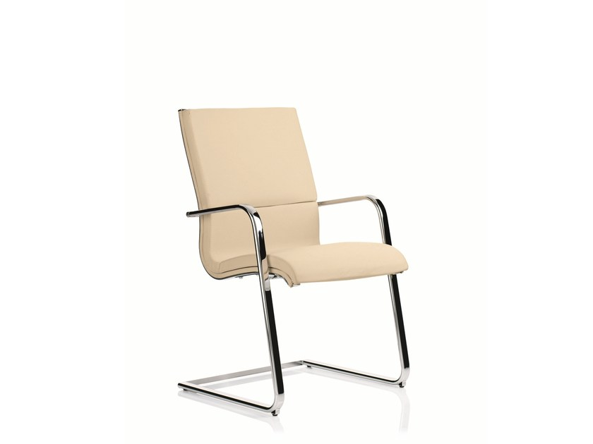 Cantilever training chair with armrests EM203 | Cantilever training chair by Emmegi