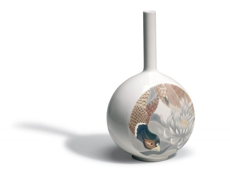 Ceramic vase CANVAS BIRD SCENE | Ceramic vase by Lladró