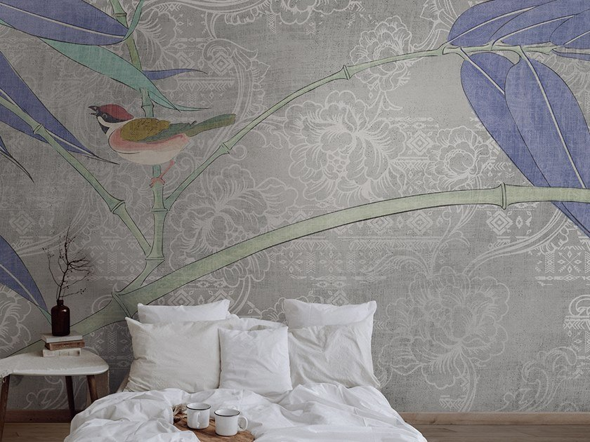 Washable panoramic glass-fibre wallpaper CANVAS ORIENTAL by N.O.W. Edizioni