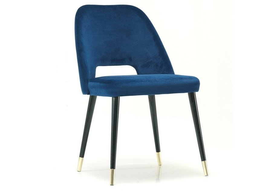 Open back fabric chair CAP | Chair by Oliver B.