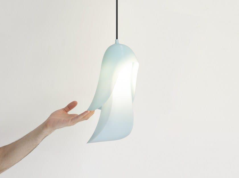Polycarbonate pendant lamp CAPE by Moustache