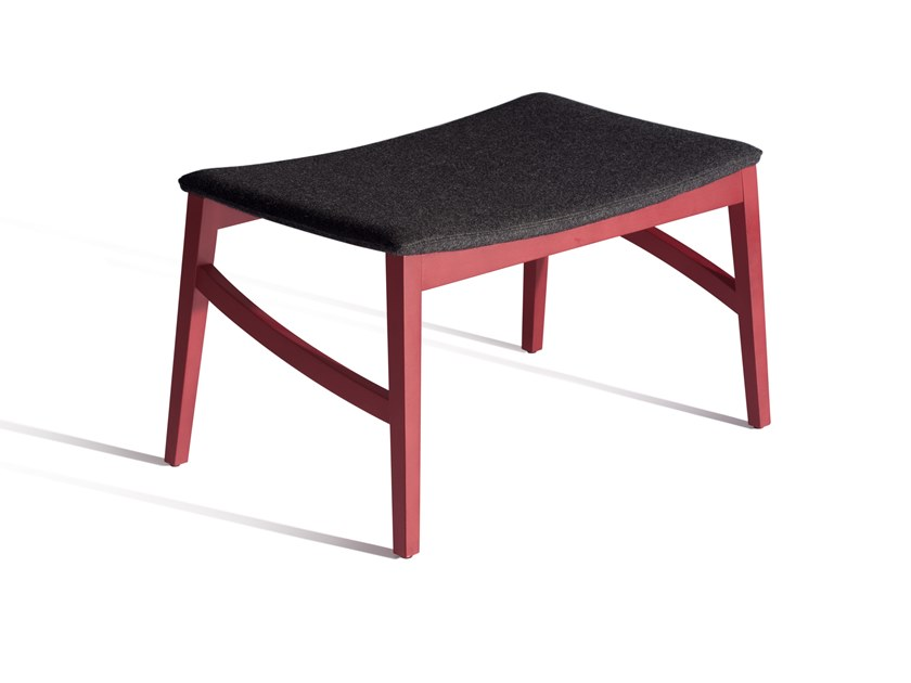 Fabric footstool CAPITA 512T by Capdell