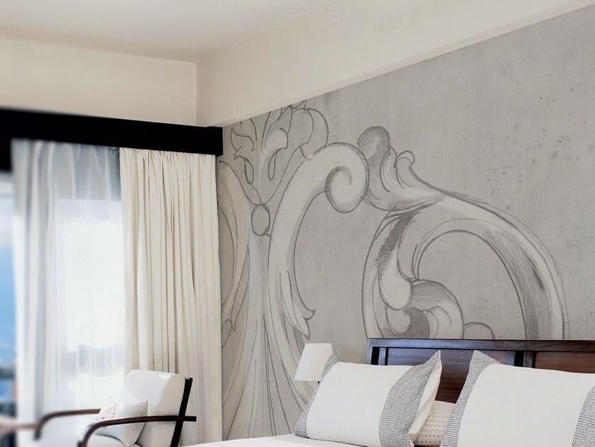 Fire retardant waterproof glass-fibre wallpaper CAPITELLO by Tecnografica Italian Wallcoverings
