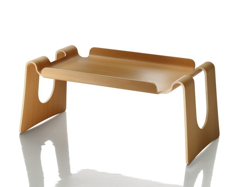 Rectangular multi-layer wood tray CAPPUCCINO by Magis