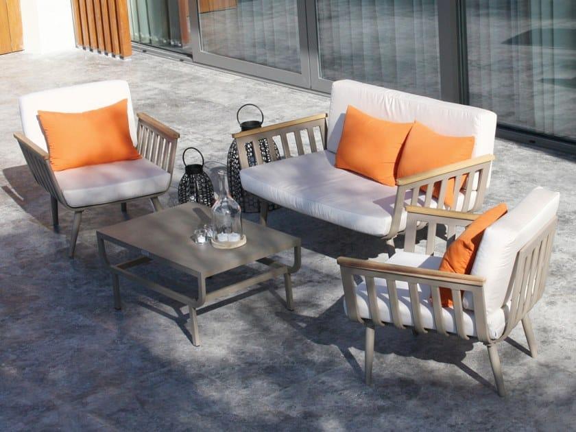 Iroko lounge set CAPRAIA by MOBIKA GARDEN