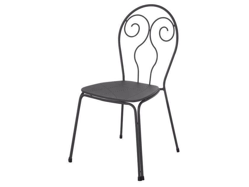 Stackable steel garden chair CAPRERA | Chair by emu