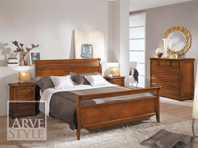 Solid wood double bed CAPRI | Solid wood bed by Arvestyle